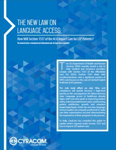 Section 1557 Compliance Language Services