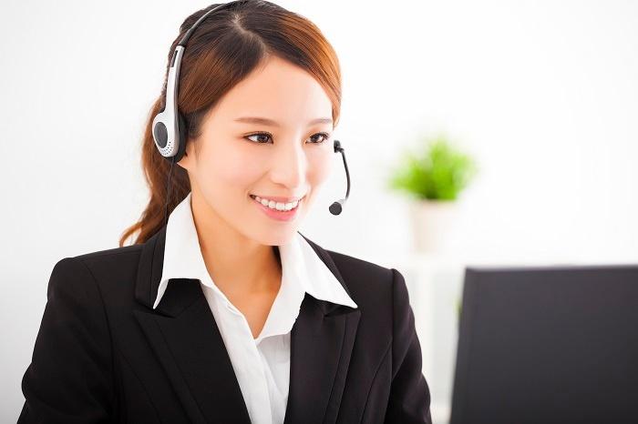 Asian woman interpreter